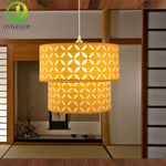 Modern Yellow Double-deck Pendant Light - VMC Creative Designs