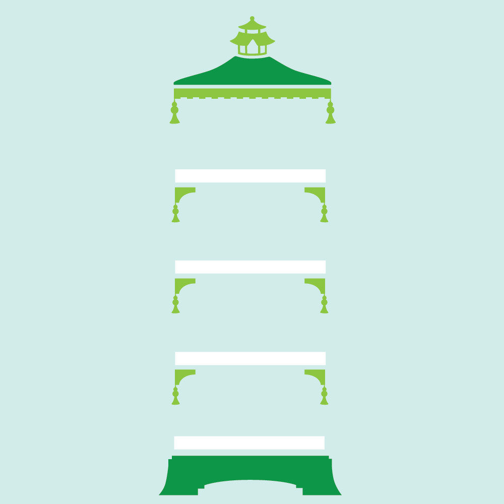 Pagoda Decal Set for Floating Shelves