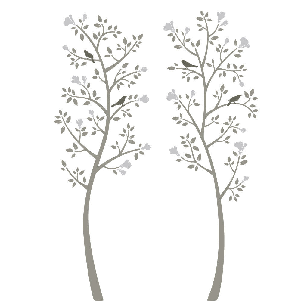 Chinoiserie Magnolia Tree Wall Decal Set
