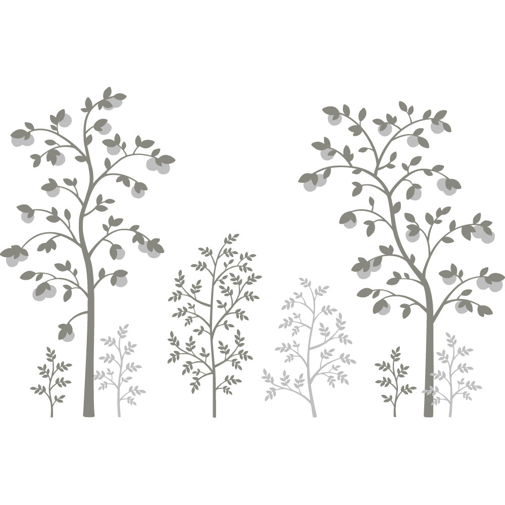 Chinoiserie Fruit Tree Wall Mural Decal Set