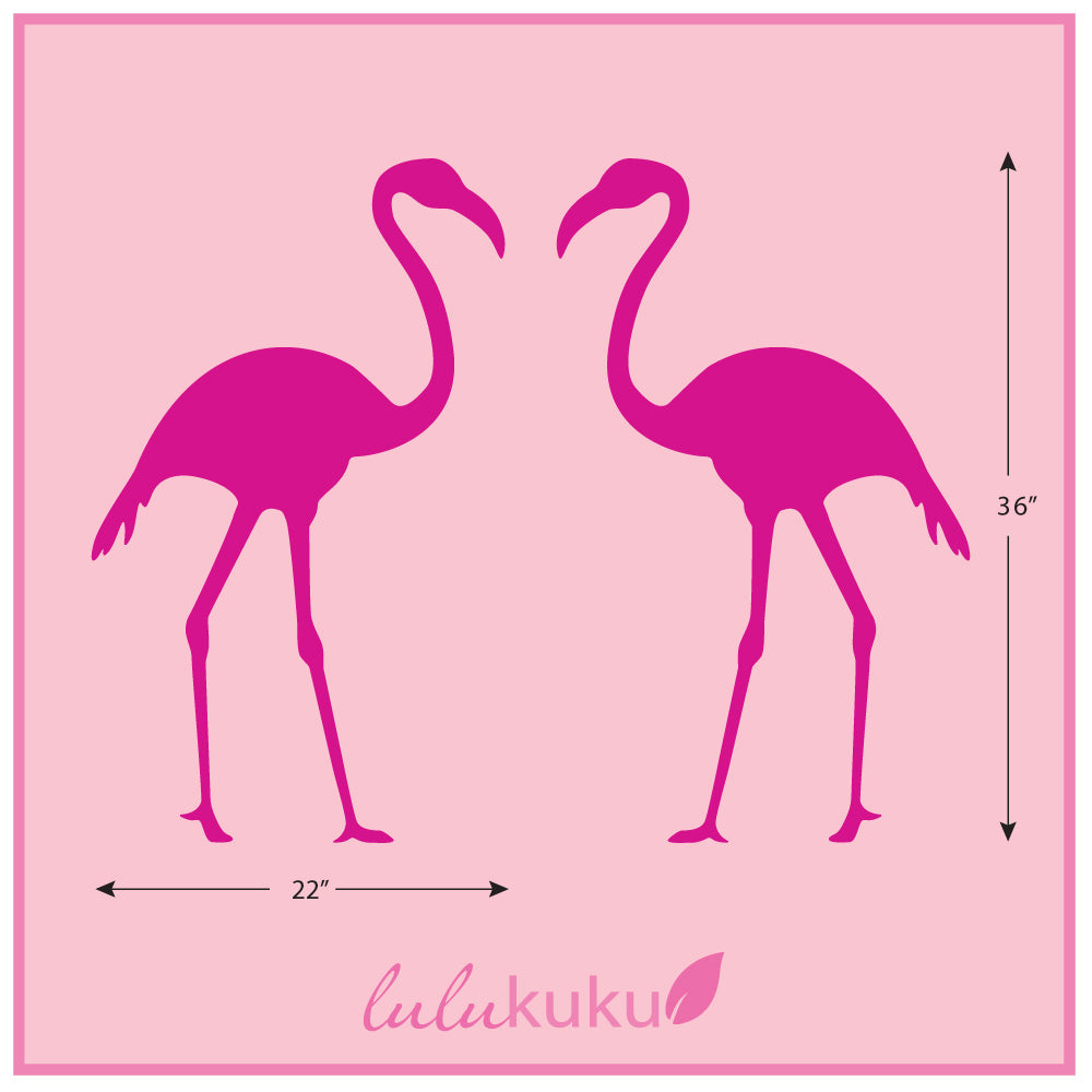flamingo wall decal dimension sheet