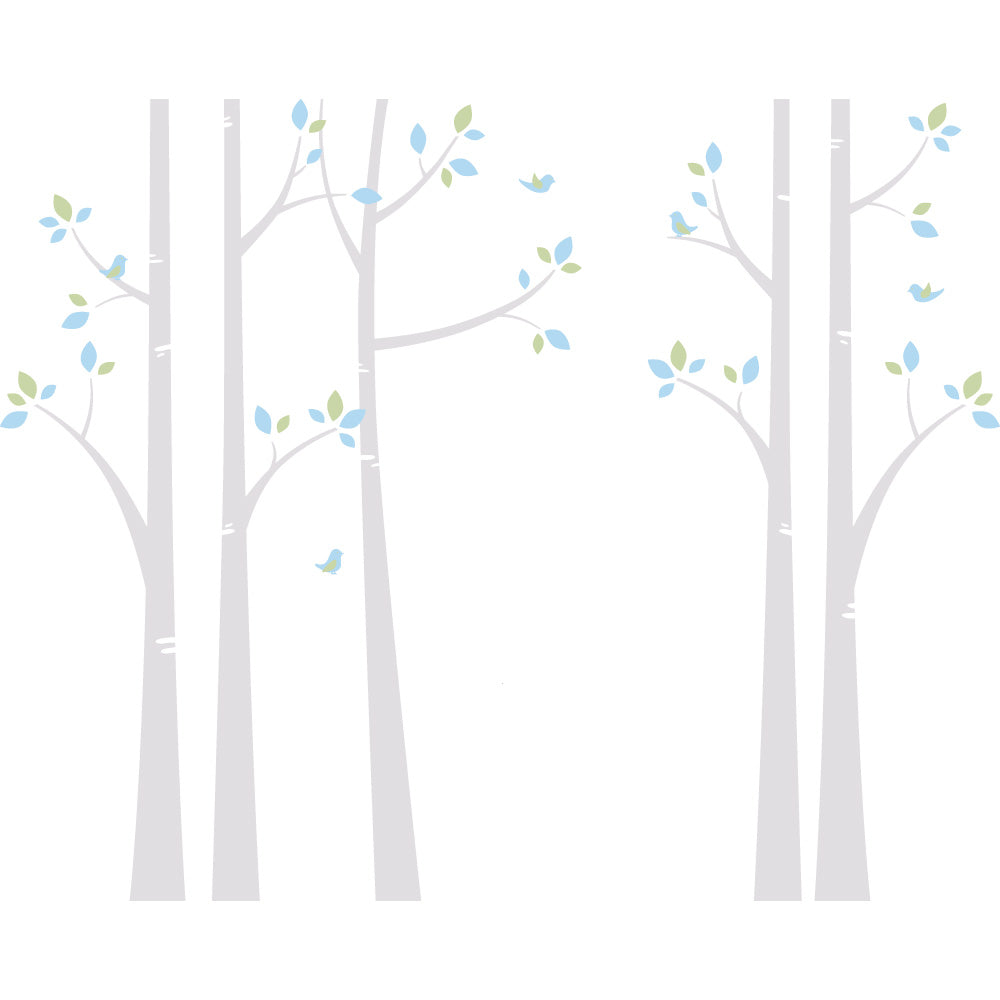 Birch Tree Wall Decals Woodland Nursery Removable Decals