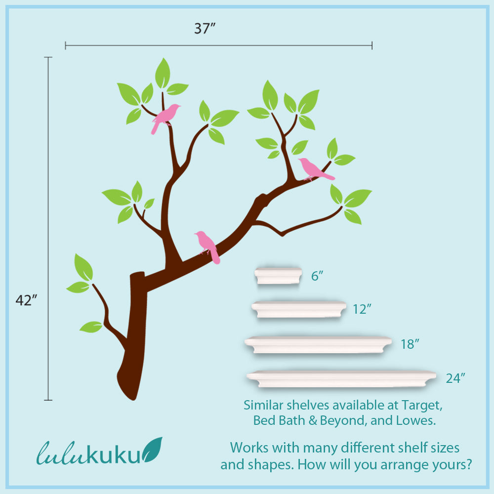 Branch Set Shelf Dimensions
