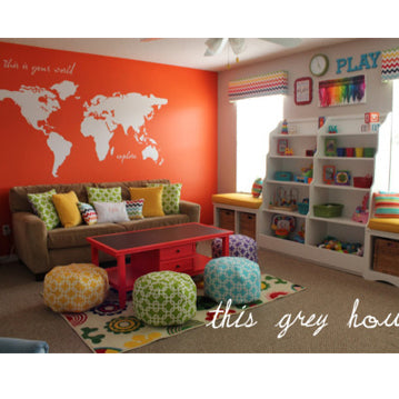 White World Map Wall Decal Playroom Decor