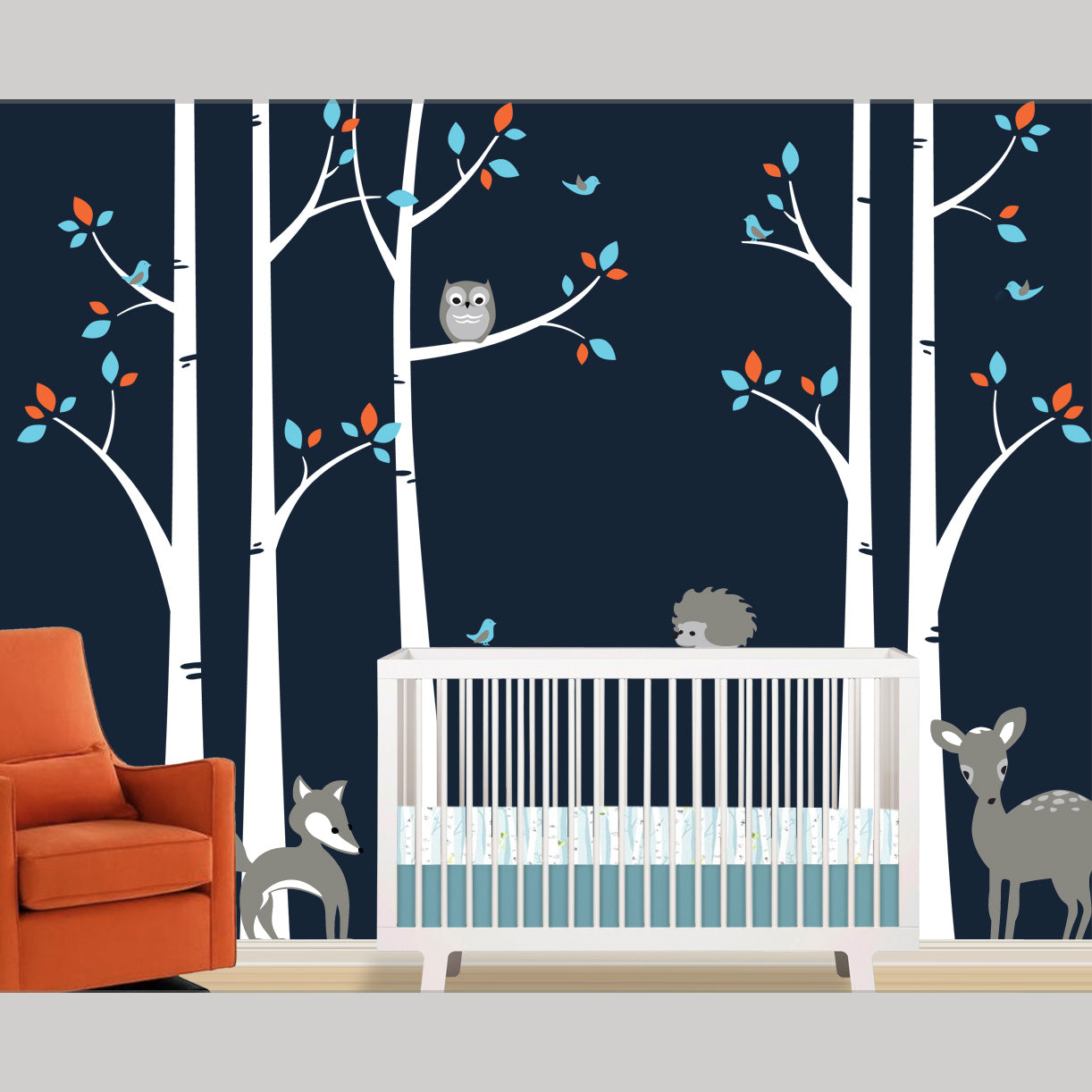 Birch Tree Wall Decal Woodland Forest Removable Decals
