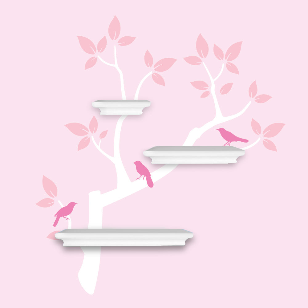Chinoiserie Branch decal for shelving