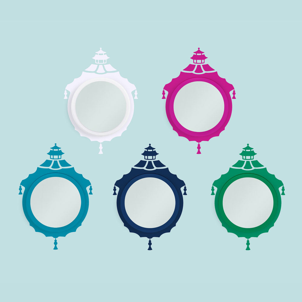 Chinoiserie Mirror Decal Set Color Options