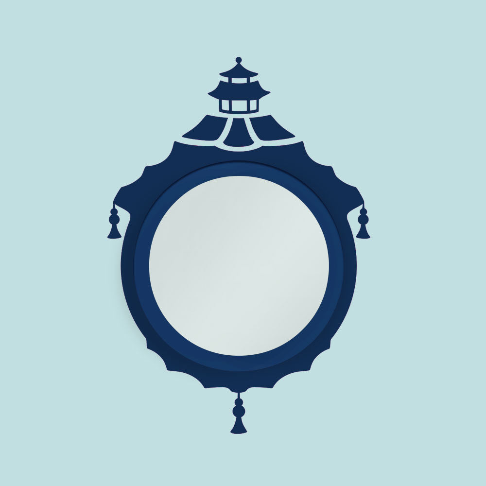 Chinoiserie Pagoda Mirror Decal Set