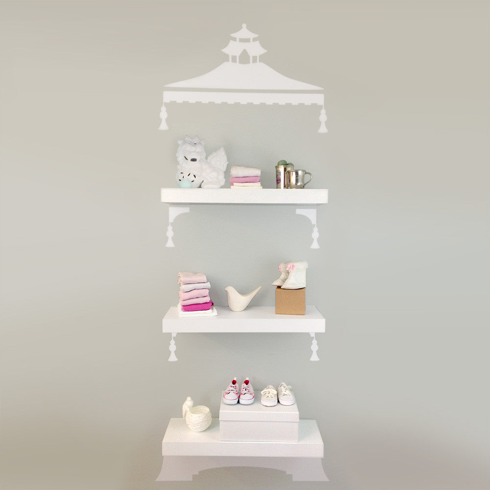 Chinoiserie Pagoda Etagere Decal Set