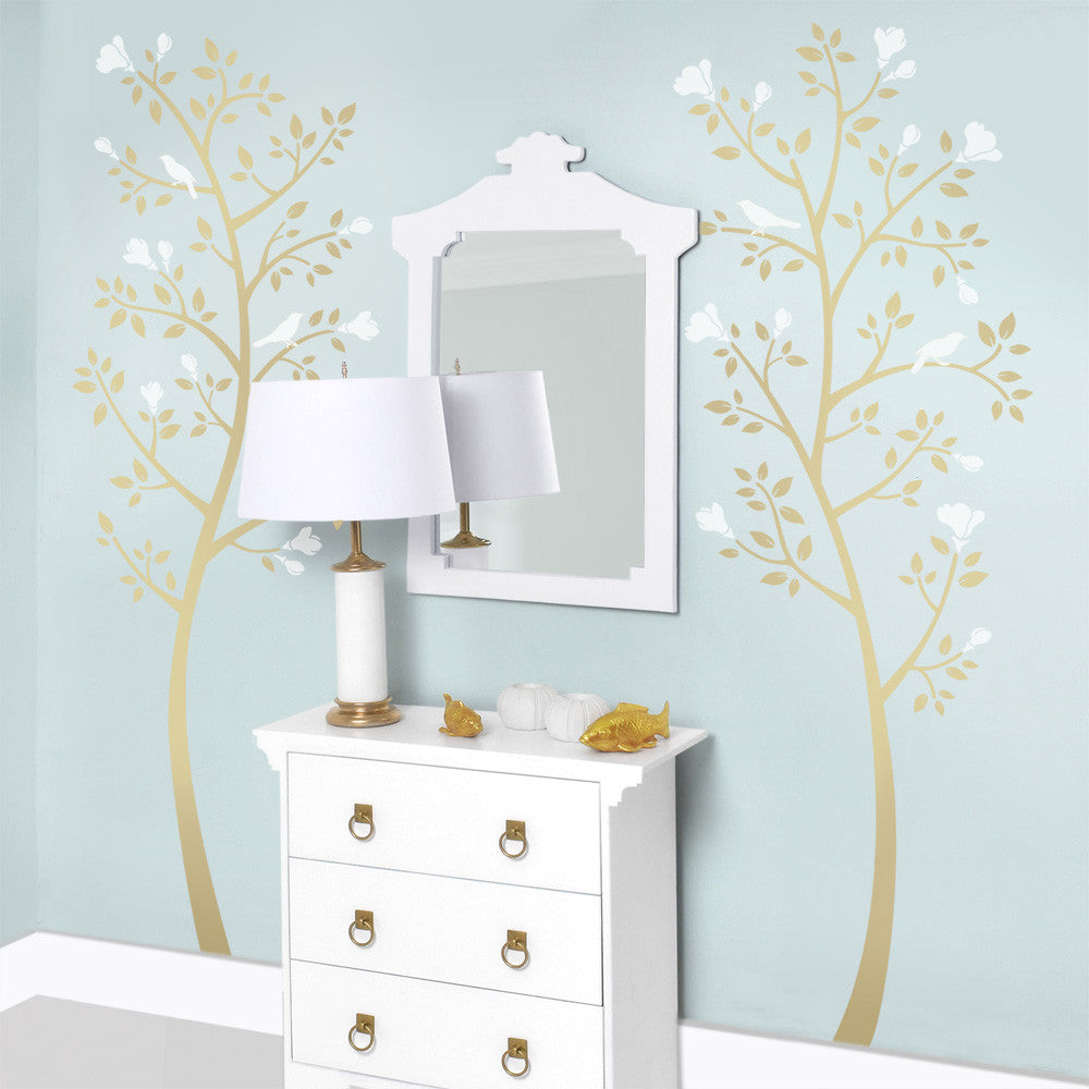Chinoiserie Magnolia Tree Set
