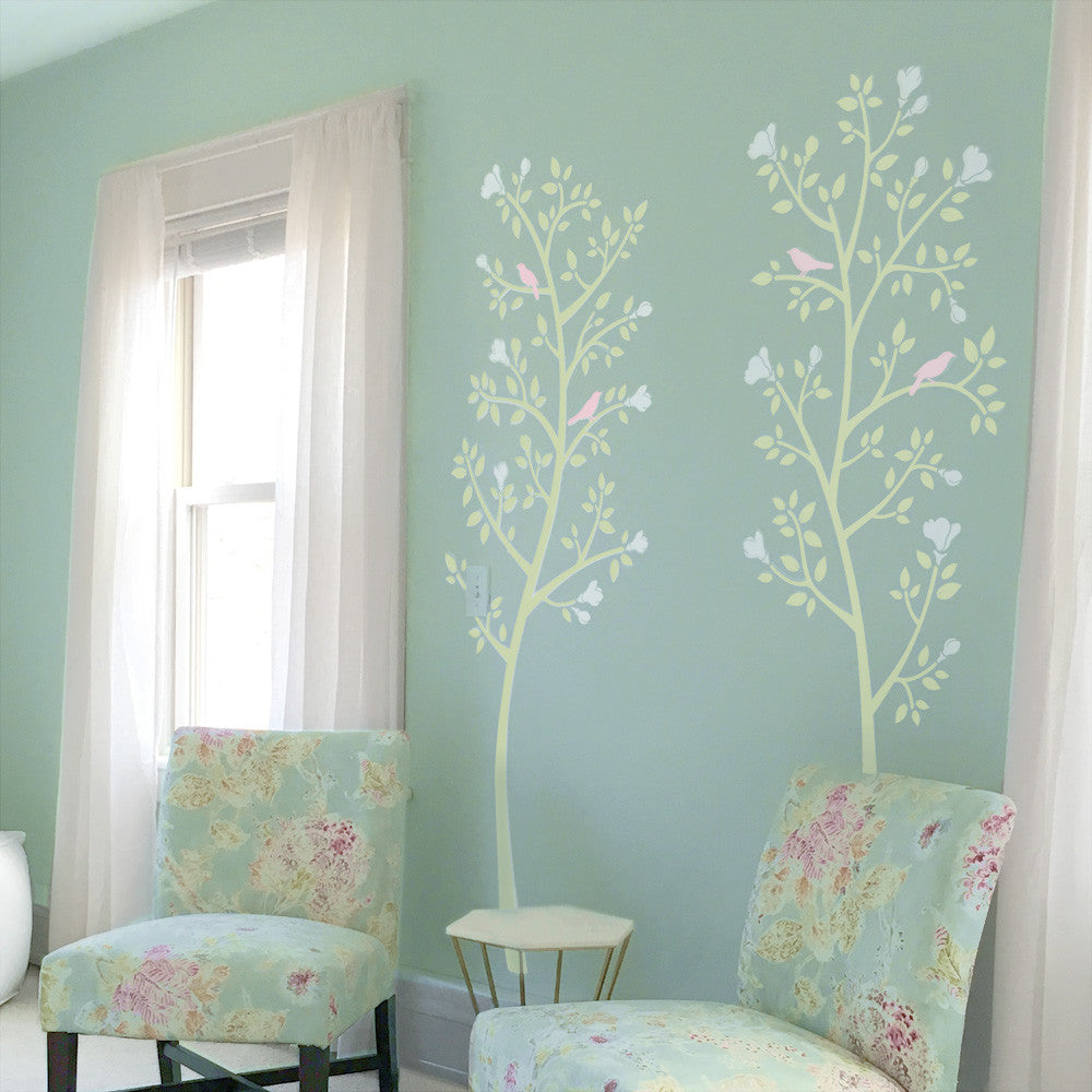 Chinoiserie Tree Mural Bedroom