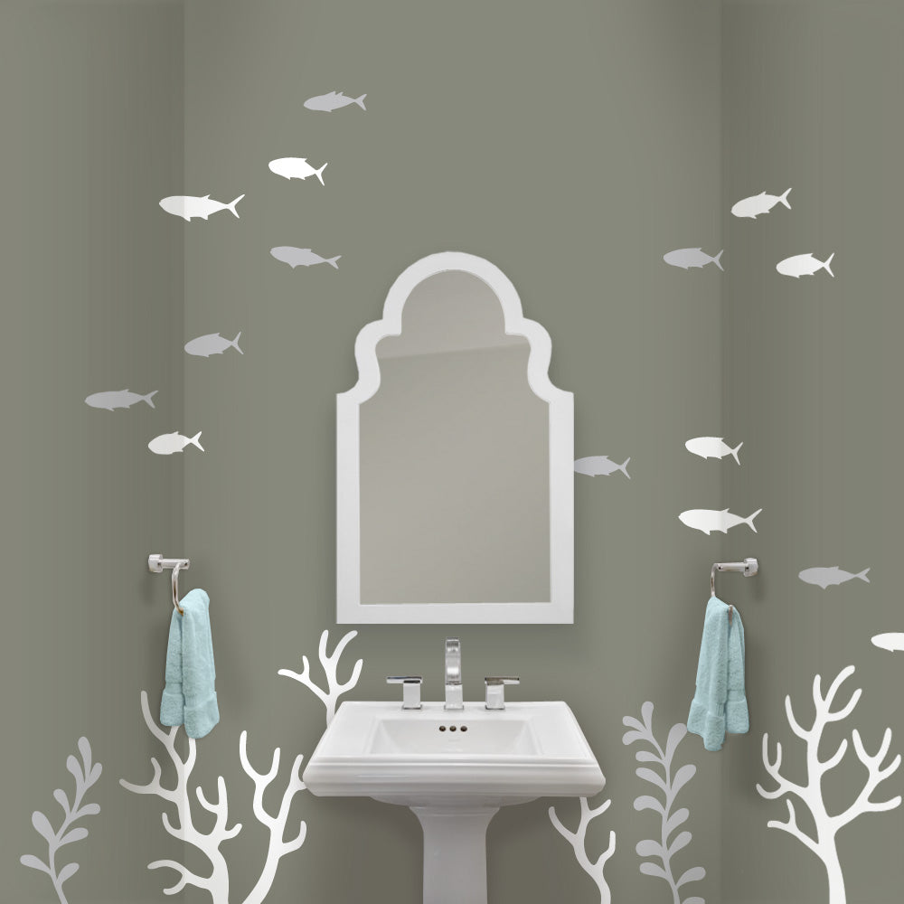 Coral Mural Bathroom