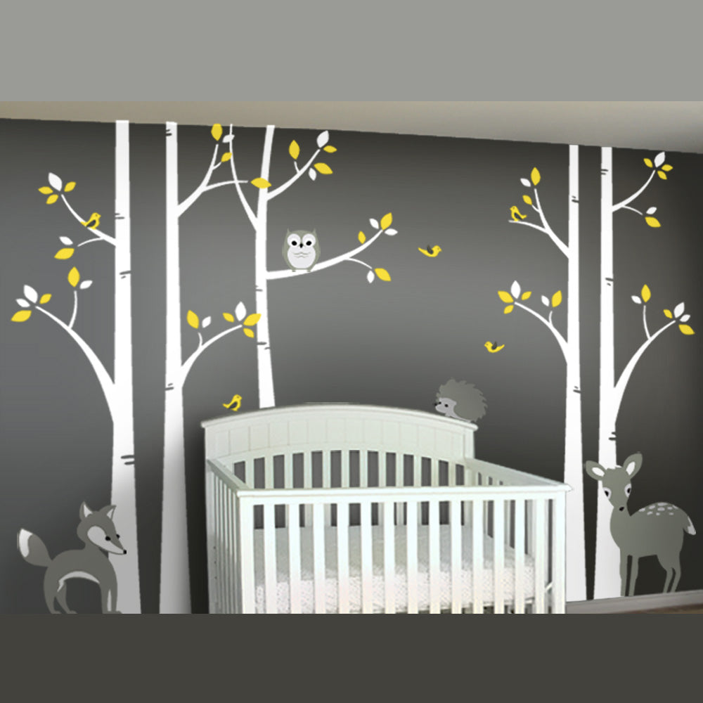 Gray And Yellow Nursery Wall Decor