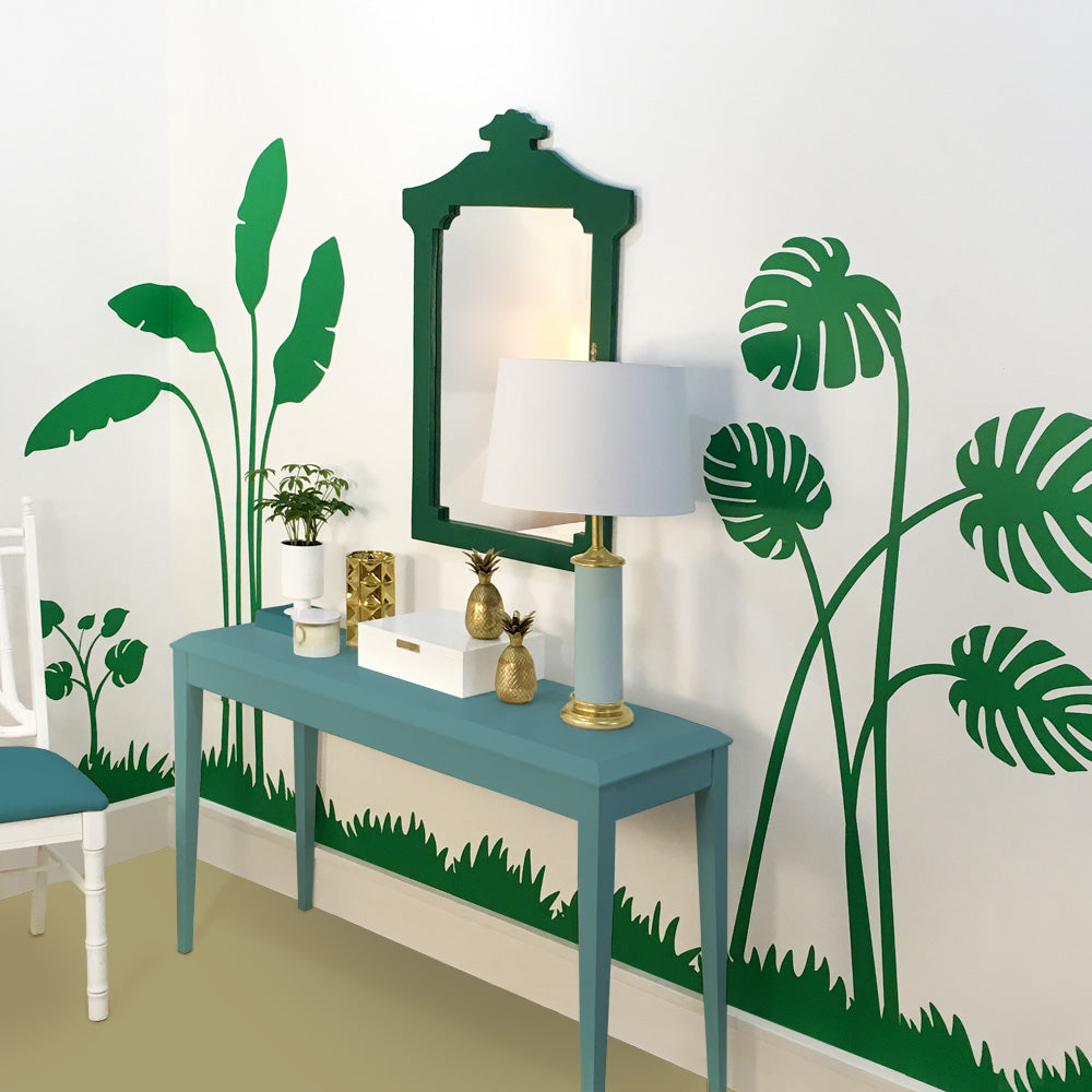 Banana Palm Leaf Tropical Wall Mural