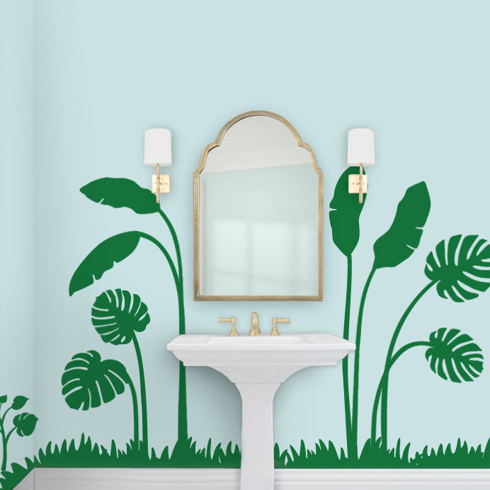 Tropical Mural Bathroom