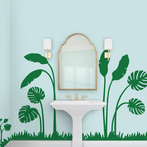 Palm Leaf Tropical Mural Decal Set