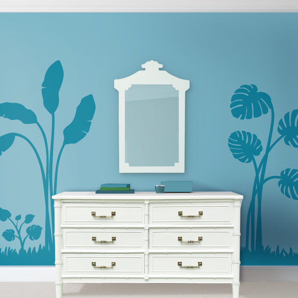 Banana Palm and Monster Leaf Wall Mural