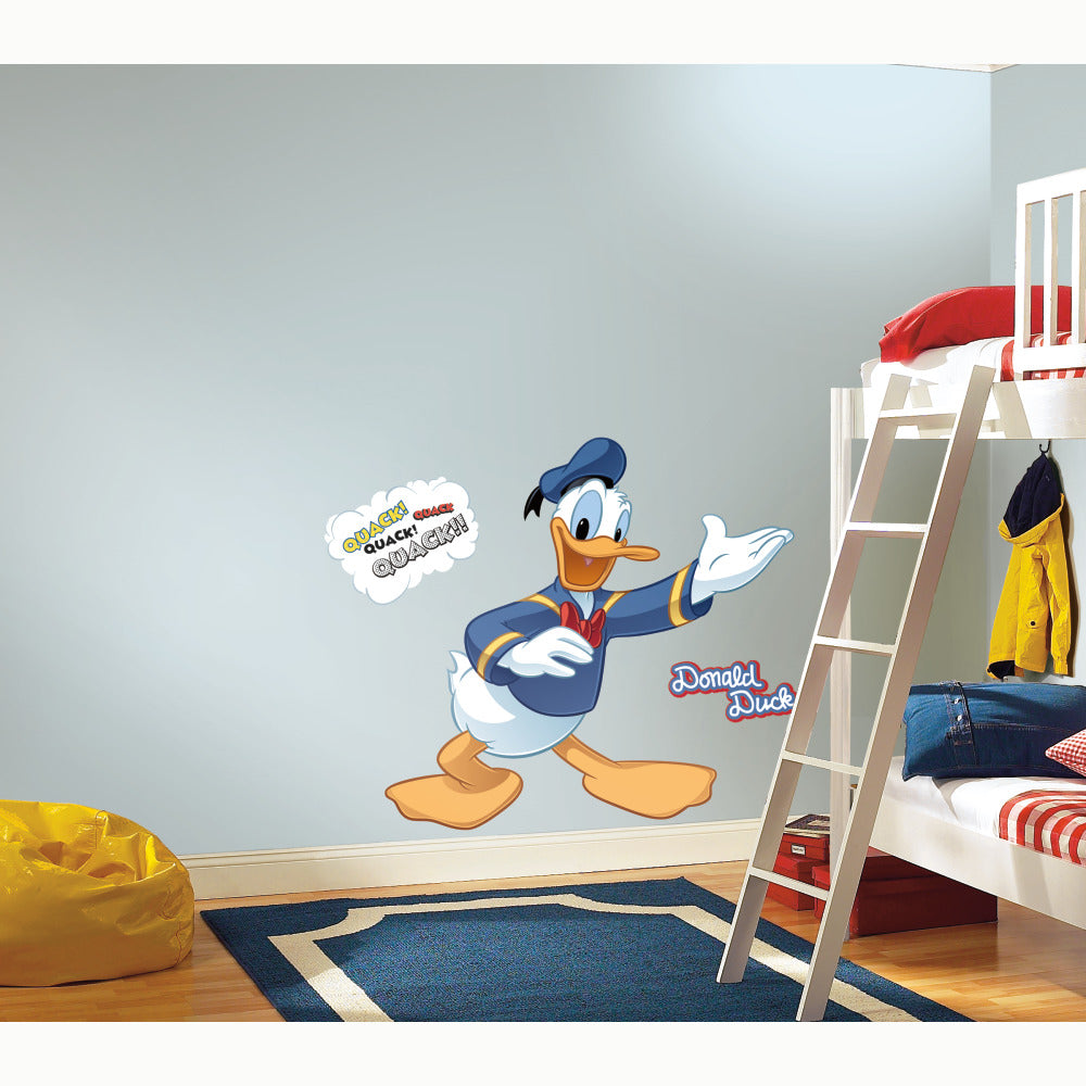 Rmk1512gm donald duck giant wall decal the wall shop rmk1512gm white wall stickers wall decor wall decals self adhesive roommates room decor repositionable removable amipublicfo Choice Image