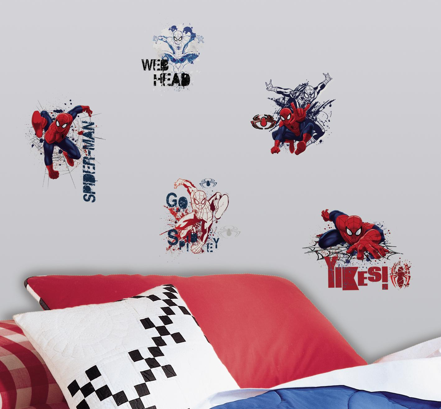 RMK2170SCS Red Blue Wall Stickers Wall Decor Wall Decals Self Adhesive  RoomMates Room Decor Repositionable