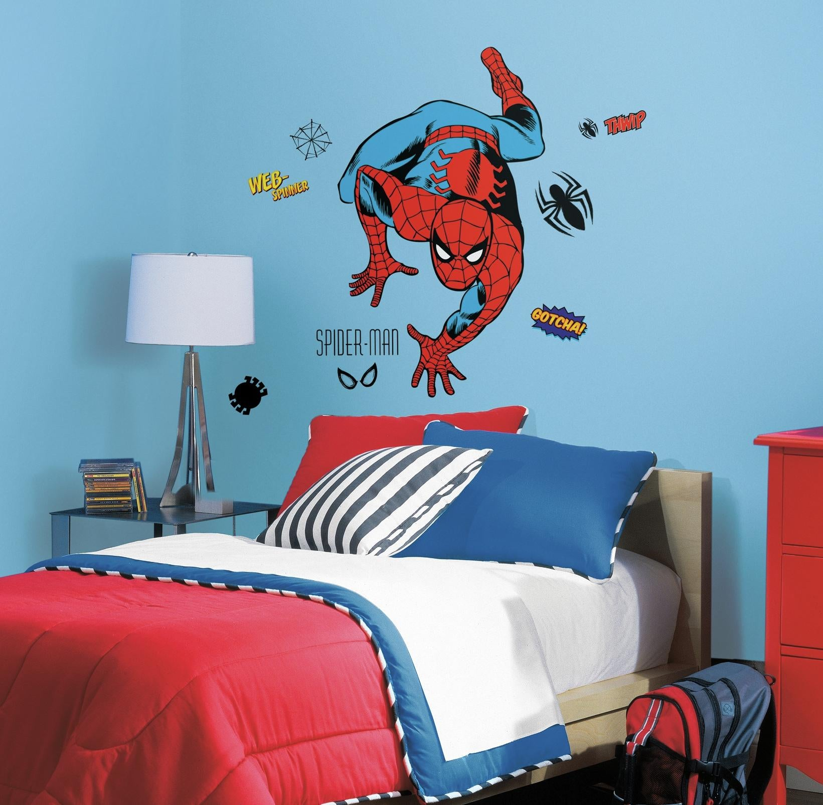 RMK2355GM Wall Stickers Wall Decor Wall Decals Super Hero Spiderman  Self Adhesive RoomMates Room Decor