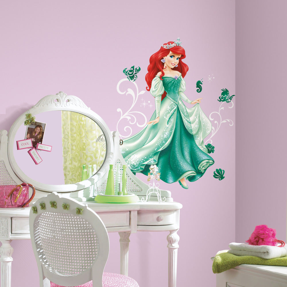 Rmk2550gm disney princess ariel giant wall decals the wall shop rmk2550gm red green wall stickers wall decor wall decals self adhesive roommates room decor repositionable amipublicfo Choice Image