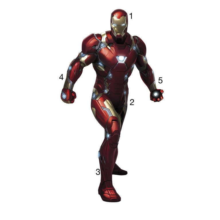RMK3246GM Red Wall stickers Wall decor Wall decals Team Stark Self adhesive  RoomMates Room decor. RMK3246GM Marvel Iron Man Civil War Giant Wall Decals   The Wall Shop