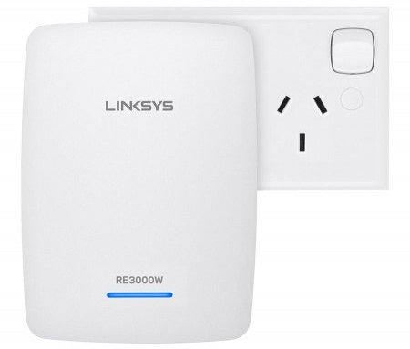 LINKSYS RE3000W WIRELESS-N300  RANGE EXT, 10/100(1), 2.4GHz, 1YR