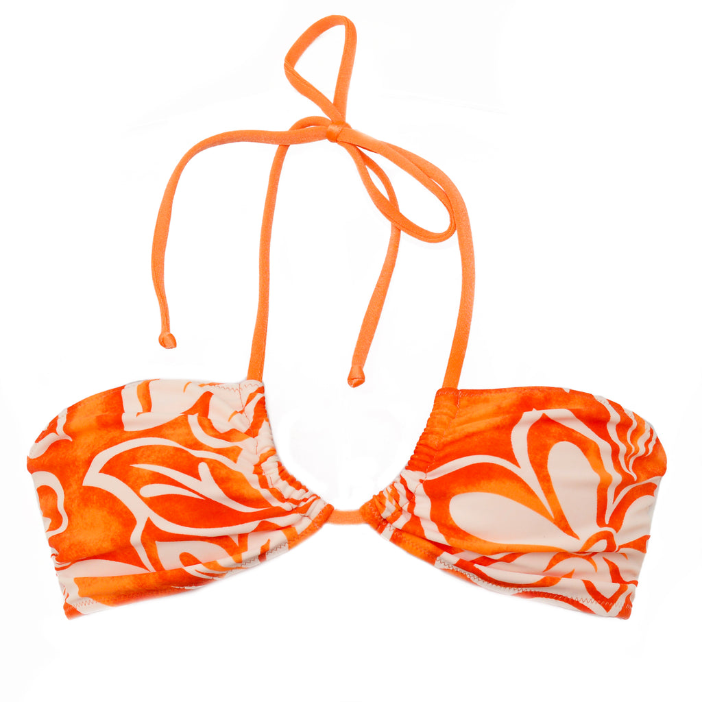 MOANA HIBISCUS ORANGE (TOP/SUTIÃ)