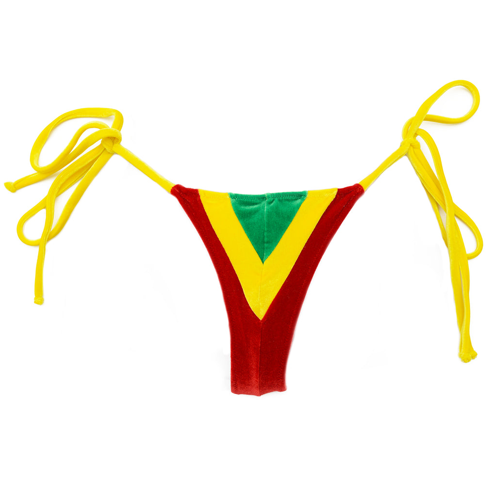 TINY SIDE TIE V JAMAICA VELVET EDITION (CALCINHA/BOTTOM)