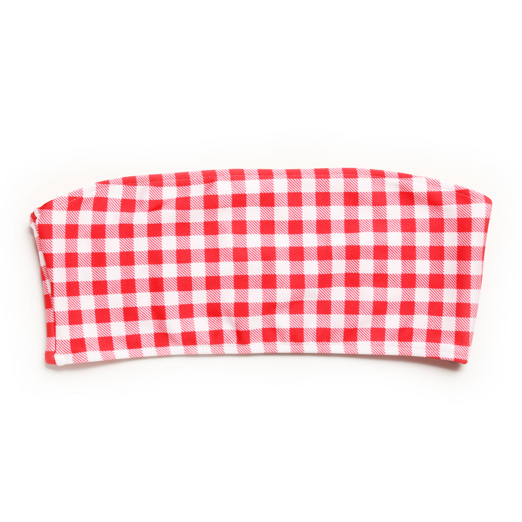 TUBE TOP RED GINGHAM (SUTIÃ/TOP)