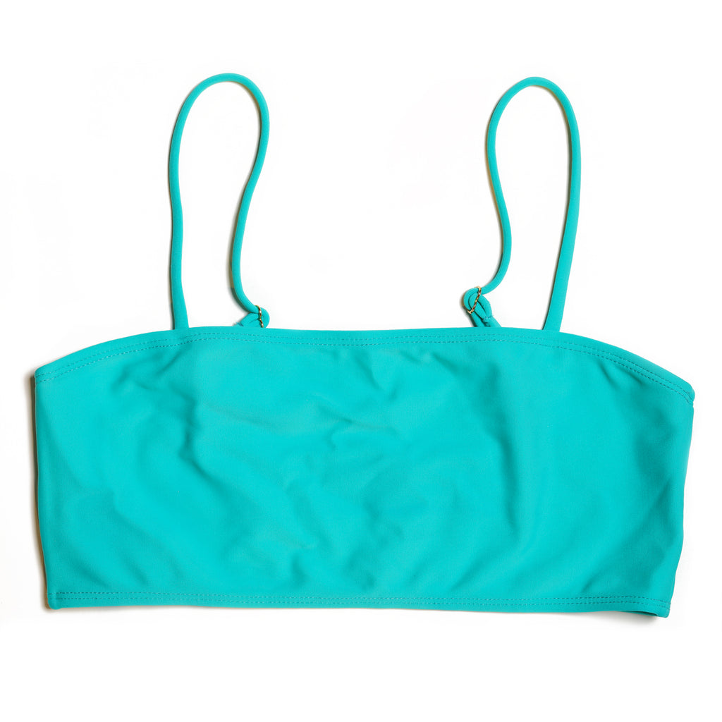 TUBE TOP VERDE TURQUESA (SUTIÃ/TOP)