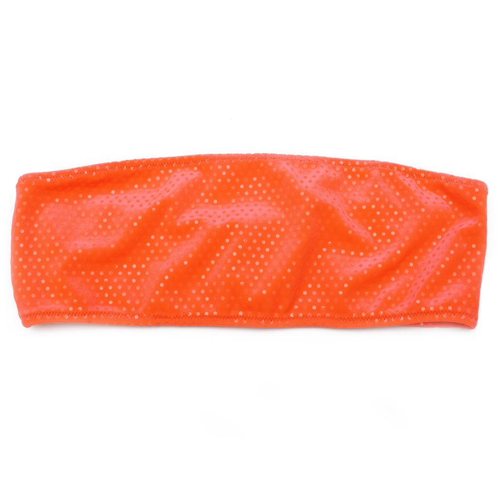 TUBE TOP ORANGE NEON DOTS VELVET (SUTIÃ/TOP)