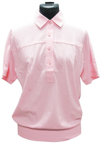 Leon Levin Womens Short Sleeve Banded Bottom 104 Carnation - bandedbottom