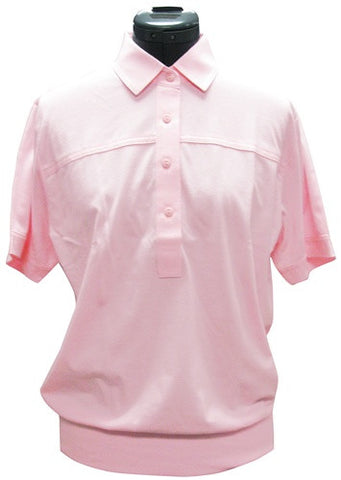 Leon Levin Womens Short Sleeve Banded Bottom 104 Carnation - theflagshirt