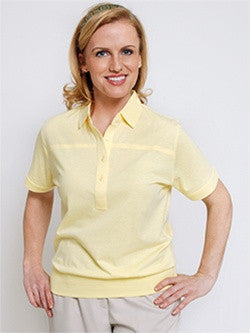 Leon Levin Womens Short Sleeve Banded Bottom 104 Lemonade - bandedbottom