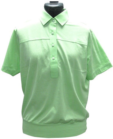 Leon Levin Womens Short Sleeve Banded Bottom 104 Spearmint - bandedbottom