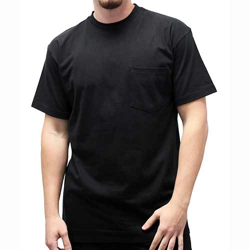 Men's Pocket Crew Neck Tee - 1100 Big and Tall