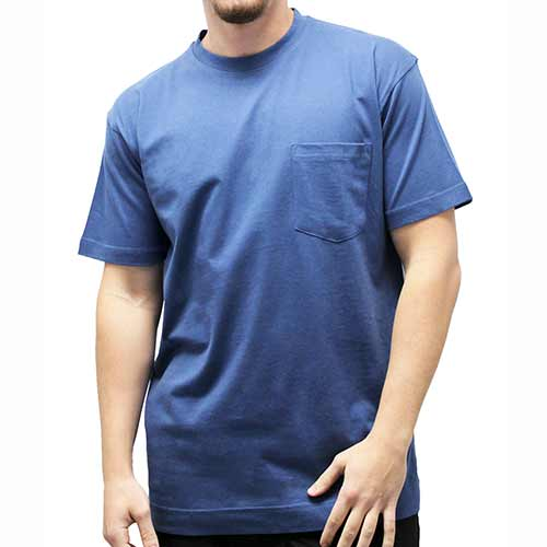 Men's Pocket Crew Neck Tee - 1100 - theflagshirt
