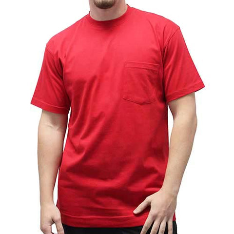 Men's Short Sleeve Pocket Crew Neck Tee - 1100 Big and Tall - bandedbottom