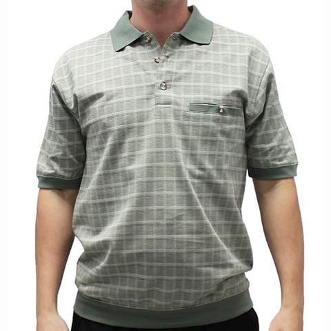 Safe Harbor Allover Short Sleeve Banded Bottom Shirt 112005 - theflagshirt