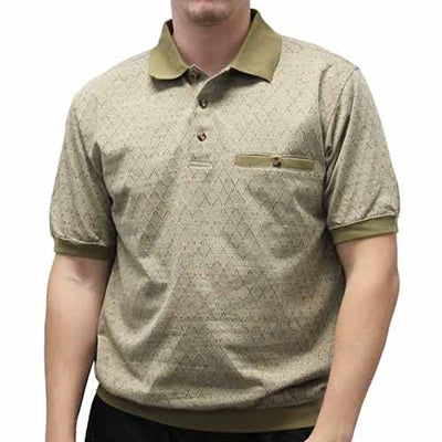 Safe Harbor Allover Banded Bottom Shirt - 112061 Khaki