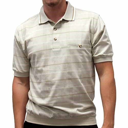 Safe Harbor Allover Short Sleeve Banded Bottom Shirt 112088 - bandedbottom