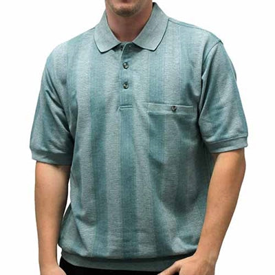 Safe Harbor Allover Banded Bottom Shirt - 112100 Sage - theflagshirt
