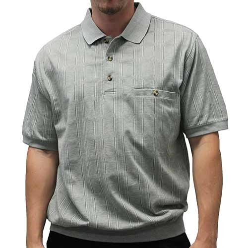 Safe Harbor Allover Short Sleeve Banded Bottom Shirt 112105 - bandedbottom