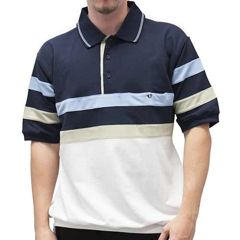 Classic by Palmland Short Sleeve Banded Bottom Shirt 112170BT - bandedbottom