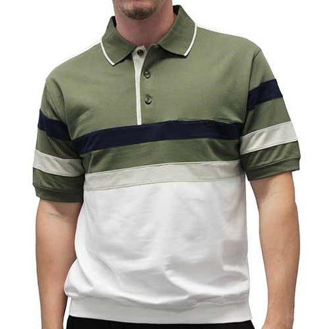 Safe Harbor Allover Short Sleeve Banded Bottom Shirt 112173 - bandedbottom