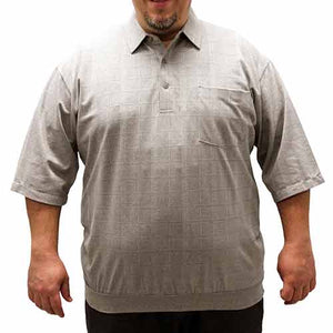 Safe Harbor Short Sleeve Banded Bottom Shirt 6010-101 Big and Tall - Taupe - theflagshirt