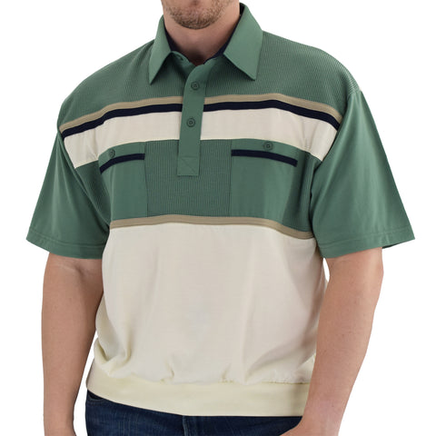 Classics By Palmland Knit Banded Bottom Shirt - 6010-120 Sage - theflagshirt