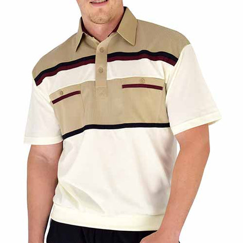 Classics By Palmland Knit Banded Bottom Shirt - 6010-120 Taupe - theflagshirt