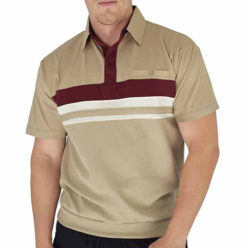 Classics By Palmland Knit Banded Bottom Shirt - 6010-122BT Taupe - theflagshirt